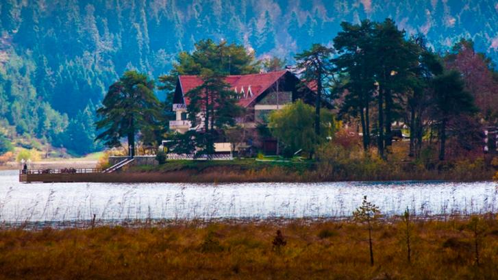 House over a lake