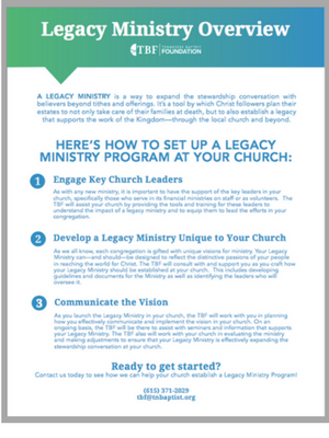 Legacy Ministry Overview