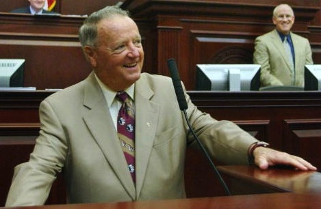 Bobby Bowden in 2007, in the Florida House of Representatives